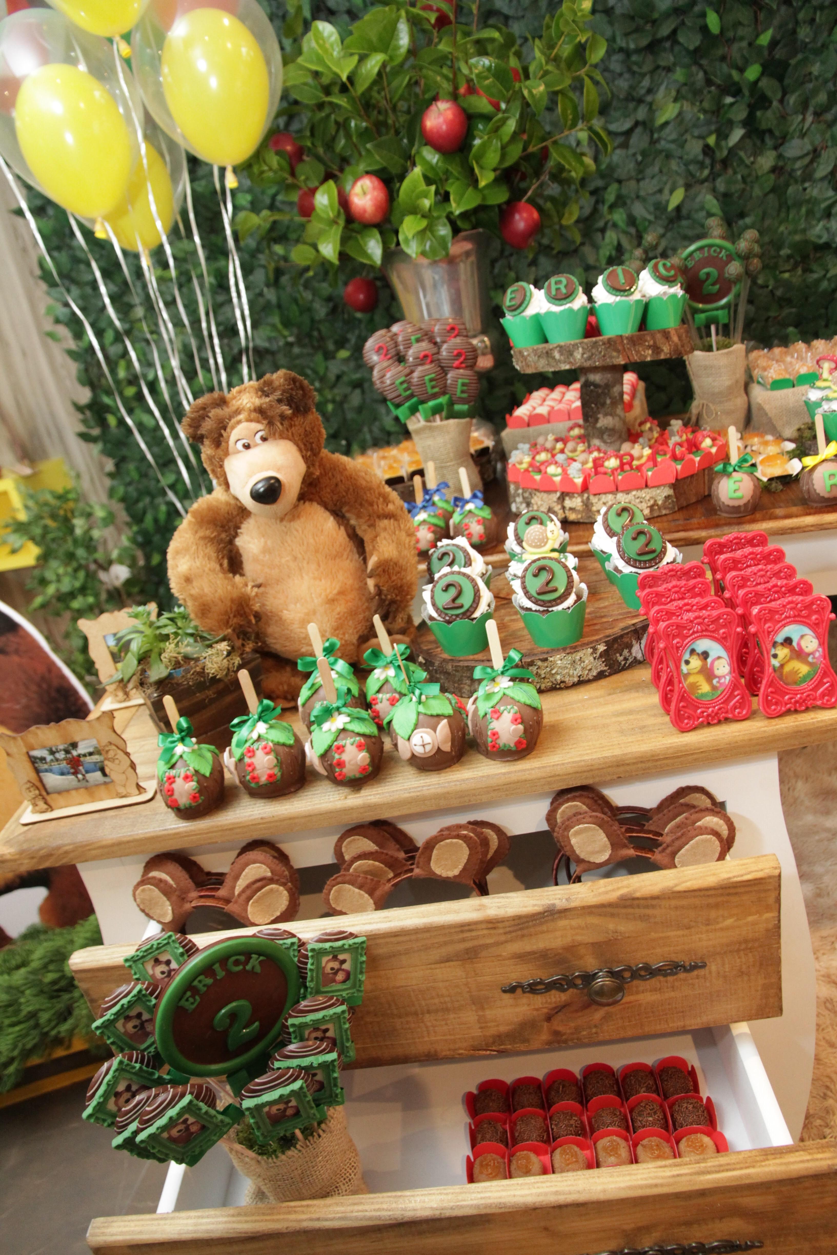Festa De 2 Aninhos Do érick Masha E O Urso Tiffany Lins